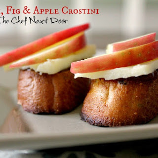 Havarti, Fig & Apple Crostini