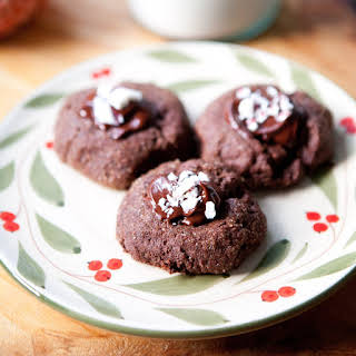 Triple-Chocolate Peppermint Thumbprint Cookies.