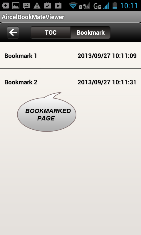 AircelBookMate - screenshot