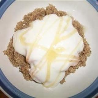 Quinoa with Peaches and Creamy Yogurt.