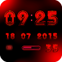 Digital Clock Widget A-RED
