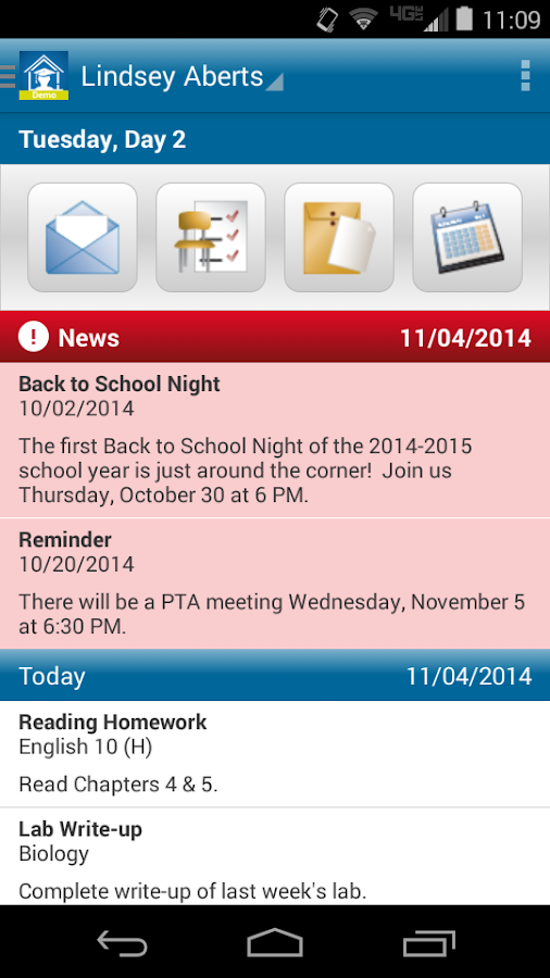 eSchoolPLUS Family- screenshot