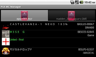 Screenshot of PSX MC Manager