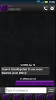 Screenshot of GO SMS Black Purple Theme
