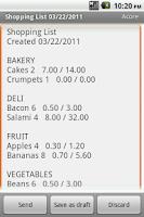 Screenshot of Shopping List Maker Plus