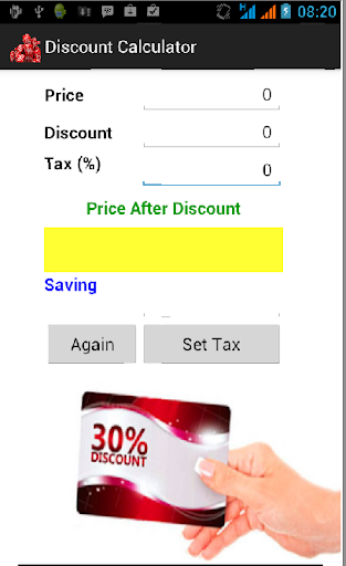 discount calculator and tax