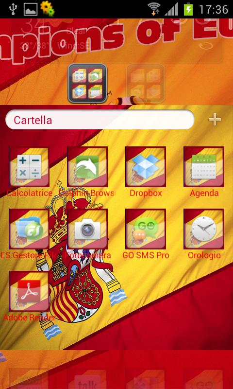 Espana 2012 Theme Go / Nova - screenshot