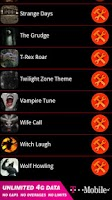 Screenshot of Scary  Sounds and Ringtones