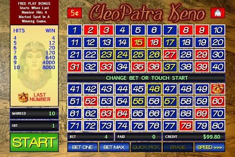 free casino keno cleopatra