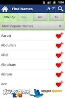 Screenshot of 30000 Baby Boy Names FREE!