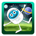 Twirling Astronaut Space Jump icon
