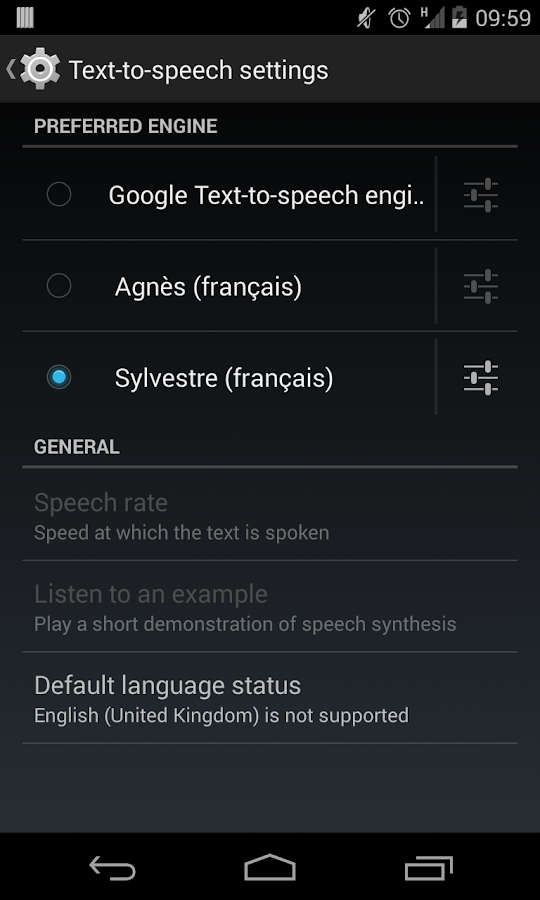 Sylvestre voice (French) - screenshot