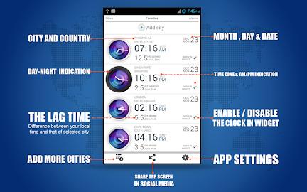 Bob's World Clock Widget Screenshot 12