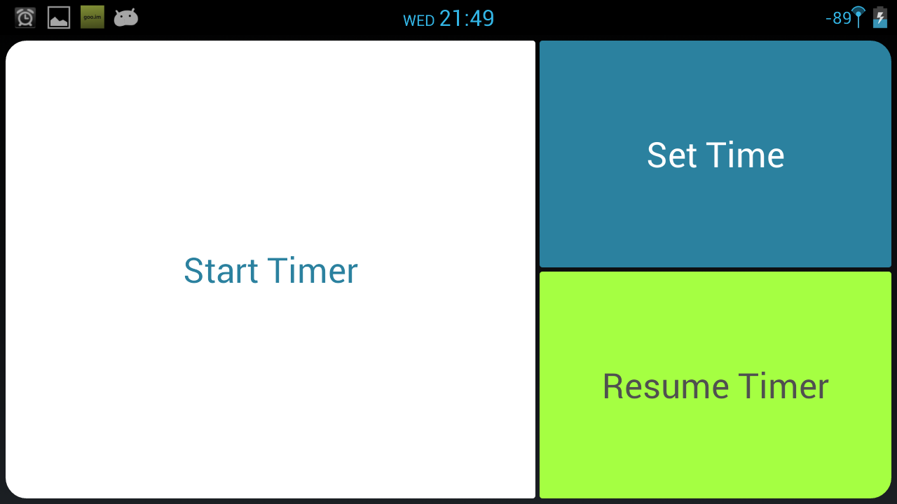 Efficiency Timer - screenshot