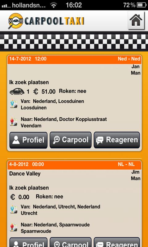 CARPOOLTAXI - screenshot