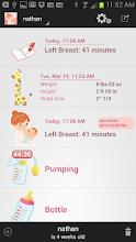 Breastfeeding Tracker Baby Log screenshot thumbnail