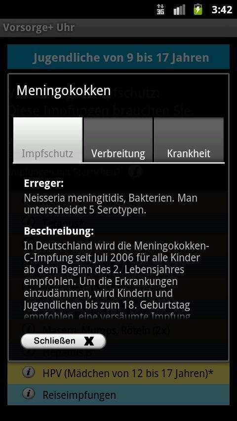 Vorsorge+ Uhr- screenshot