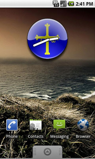 Asturias Flag Clock Widget
