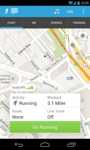 Screenshot 1 RunKeeper - Lauf mit GPS