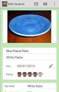 Pottery Logbook - náhled
