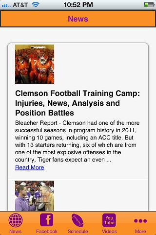 Clemson Football - screenshot