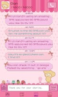 Screenshot of GO SMS Pro Pink Sweet theme