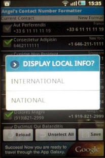Contact Number Formatter - screenshot thumbnail