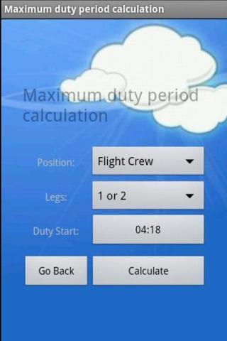 Crew Duty Period - screenshot