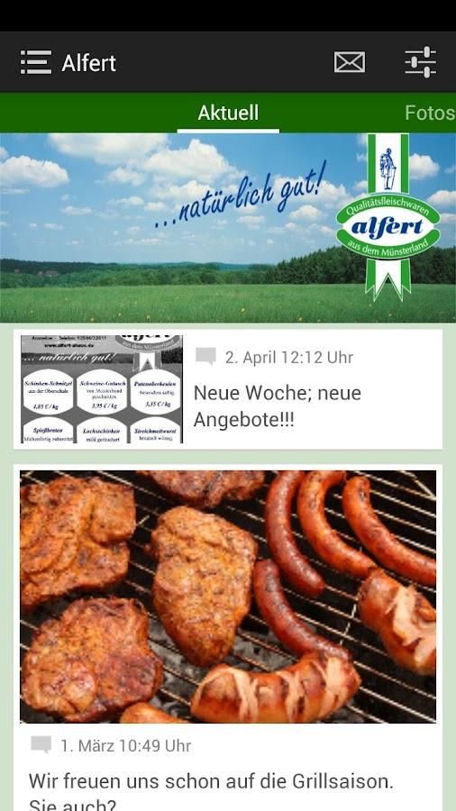 Qualitätsfleischerei Alfert - screenshot