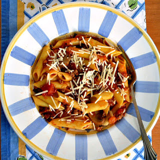 Turkey Bolognese with Vegetables, and Gluten-Free Pasta
