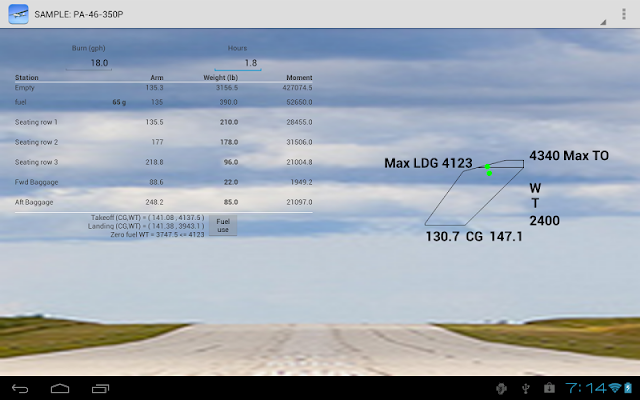 Aircraft Weight and Balance - screenshot