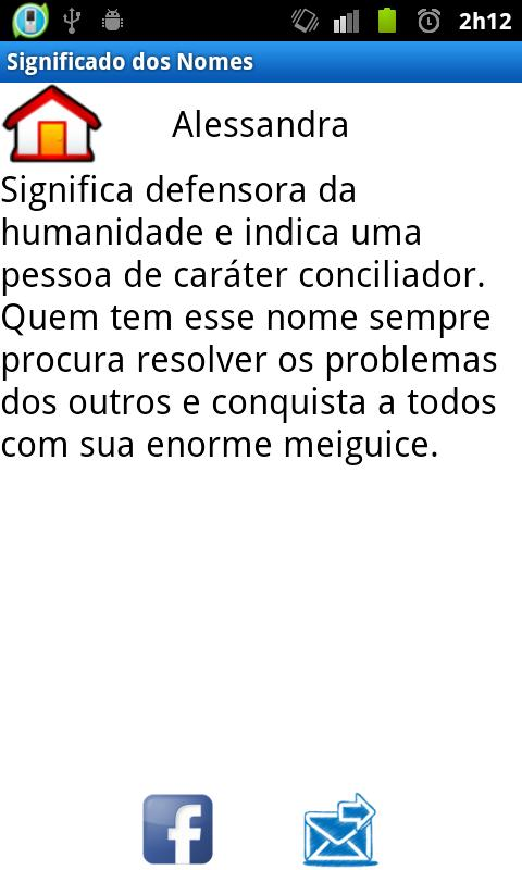 Significado dos Nomes- screenshot
