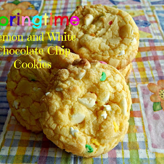 Springtime Lemon and White Chocolate Chip Cookies