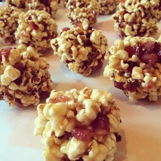 Salty Caramel Bacon Popcorn Balls