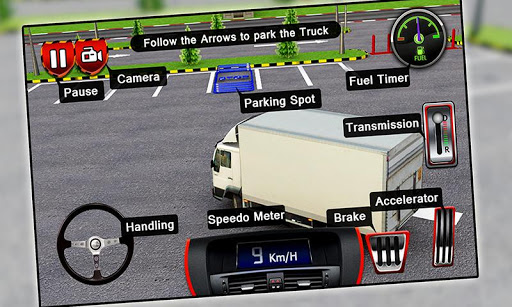 3D 货运卡车停车