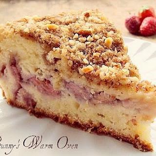 Fresh Strawberry Cream Cheese Coffee Cake.