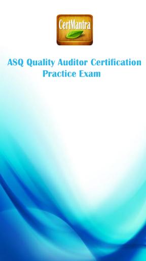 ASQ Quality Auditor Cert Prep