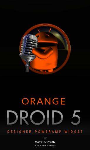 Poweramp Widget Orange Droid 5