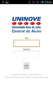 Uninove - Central do Aluno - screenshot thumbnail