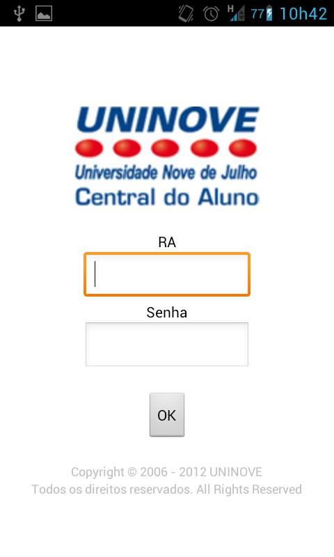 Uninove - Central do Aluno - screenshot