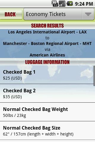 Luggage Limits- screenshot