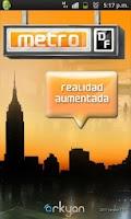 Screenshot of metroDF Realidad Aumentada