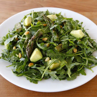 Roasted Asparagus, Avocado and Arugula Salad