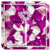 Purple Petals Zipper Lock