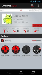 Runtastic Squats Workout- screenshot thumbnail