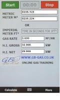 Screenshot of Gb-Gas heat input Calculator