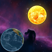 Planets in universe wallpaper