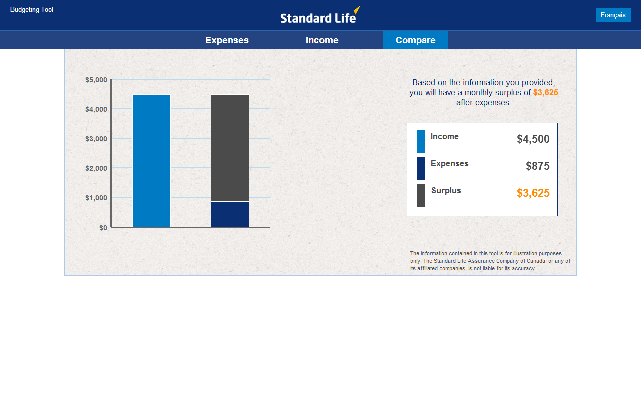 Standard Life Planning Tools - screenshot
