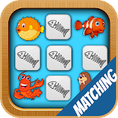 Kids Memory Game - Sea Animals