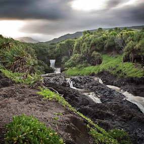 Seven Sacred Pools by Eddie Tuggle - Landscapes Waterscapes ( hana, waterfall, pools, hawaii )